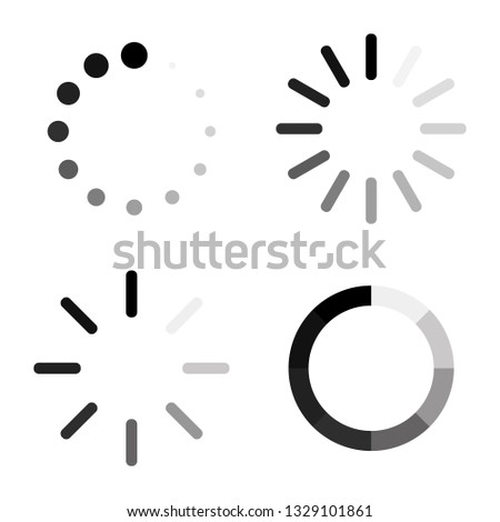 Set Loading icons. Load. load icons. White background. Loading vector icon