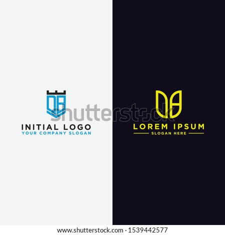 Set logo design inspiration, for companies from the initial letters of the DB logo icon. -Vectors