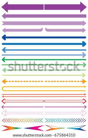 Set long arrow icon colored. sign design, Arrow Icon Vector illustration