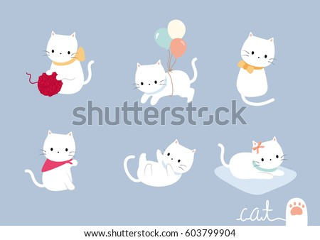 set lovely cat