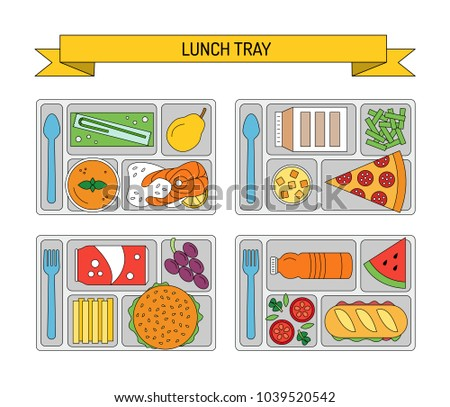 food trays for lunch download free vector art stock graphics images rh vecteezy com Graphic Cartoon School Lunch Trays Lunch Tray Template