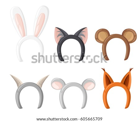 set mask cat  rabbit  deer