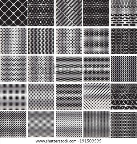 stock-vector-set-metal-grids