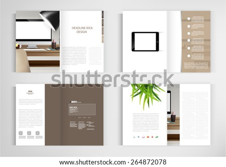 set modern book vector concept. Business graphics brochures design Templates.vector