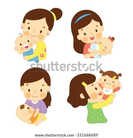 set mom and baby