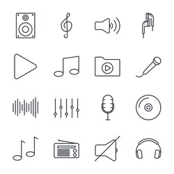 Set Music icon template color editable. Music pack symbol vector sign isolated on white background illustration for graphic and web design.