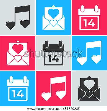 set music note  tone with