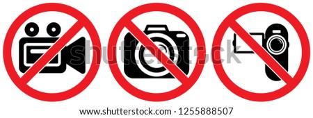 set no sign camera or photo