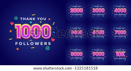 set number of thank you
