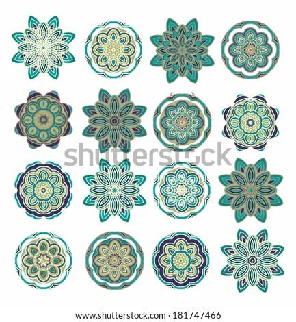 set od decorative rosettes