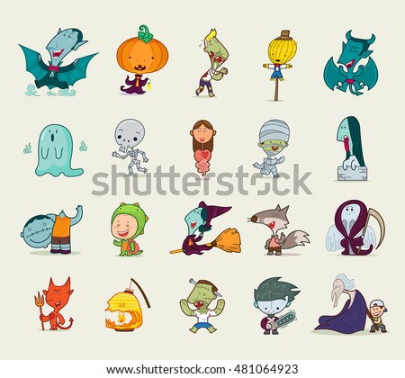 set of a halloween character