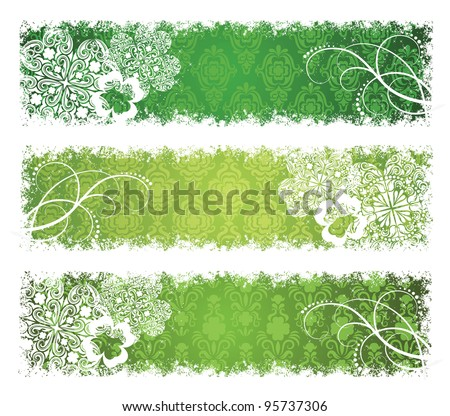 Set of a St. Patrick's Day banners.