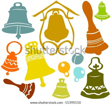 Set of a various bells