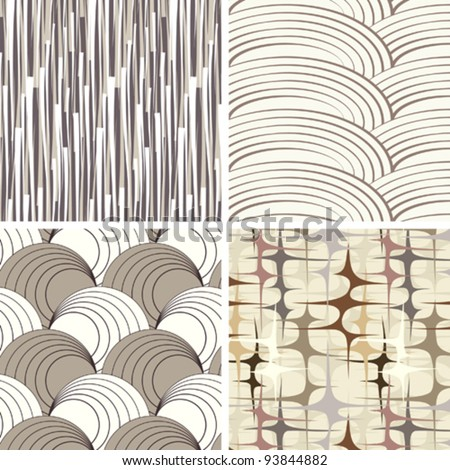 set of 4 abstract background