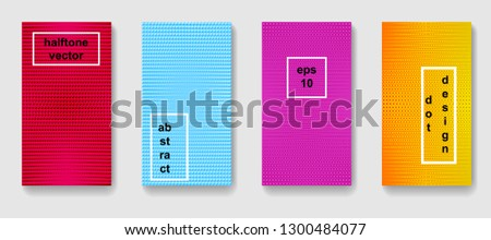 Set of abstract background in minimal style. Halftone gradient patterns. #1300484077