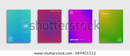 Set of abstract backgrounds. Ideal for brochure & flyer cover design. Minimal Vector covers design. Future Poster template. #689401522