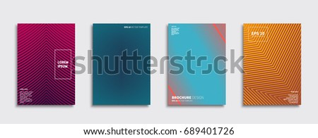 Set of abstract backgrounds. Ideal for brochure & flyer cover design. Minimal Vector covers design. Future Poster template. #689401726