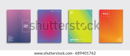 Set of abstract backgrounds. Ideal for brochure & flyer cover design. Minimal Vector covers design. Future Poster template. #689401762