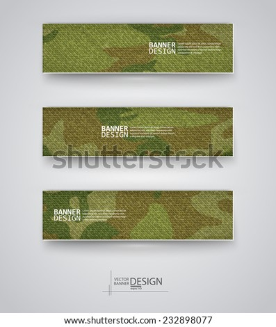set of abstract banner with