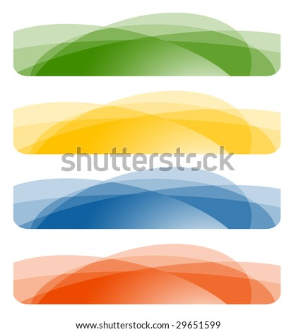 Set of abstract banners. Vector-Illustration