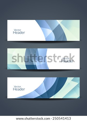 Set of abstract beautiful web header/banner designs. #250541413