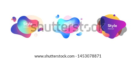Set of abstract colorful graphic elements. Design background. Vector illustration. Can be used for advertising, marketing, presentation #1453078871