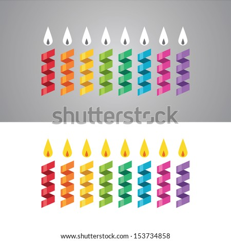 set of abstract colorful paper