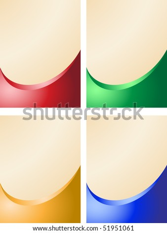 Set of abstract coloured banners