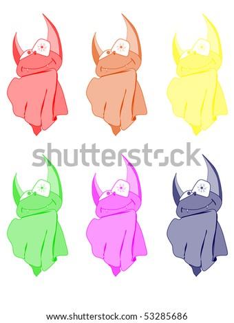 set of abstract crazy bat