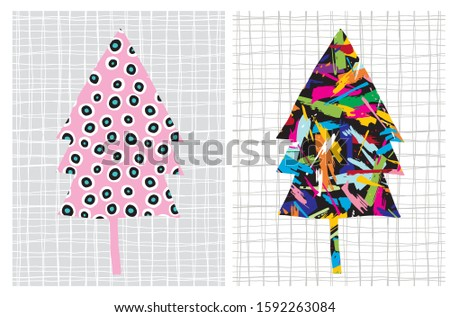 set of 2 abstract creative