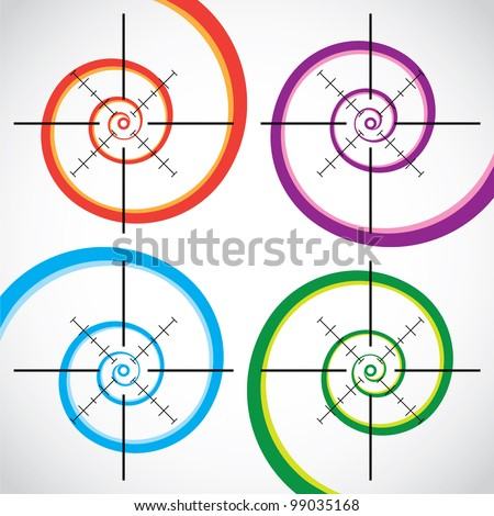 Set of abstract crosshair - illustration - stock vector