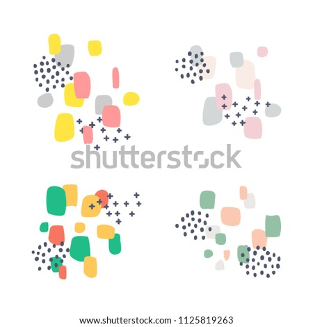 set of abstract design elements. isolated on white