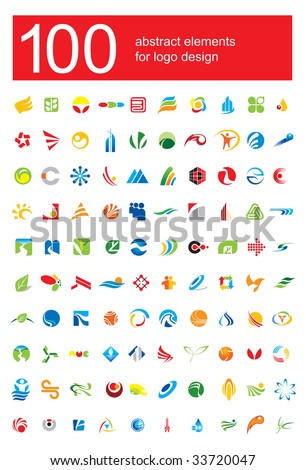 Set of abstract elements for logo design