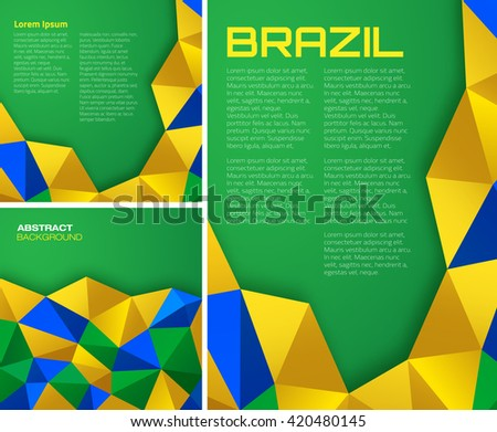 colorful pattern of brazilian flag - download free vector art, Presentation templates