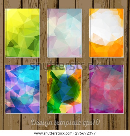 Set Of Abstract Geometric Colorful Cover Designs From
