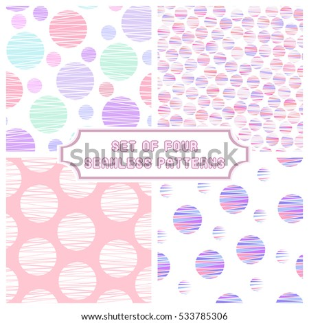 set of 4 abstract geometric