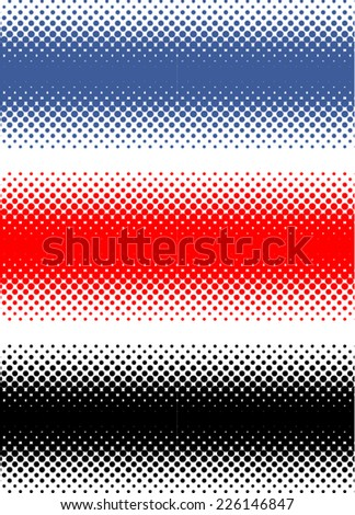 Set of Abstract Halftone Backgrounds, vector illustration  #226146847