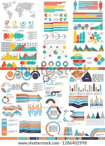 set of abstract infographics elements. Vector business template for presentation. Creative concept for infographic.