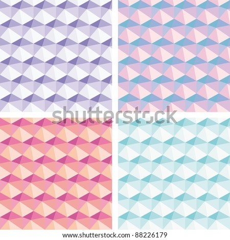 Set of Abstract light seamless backgrounds