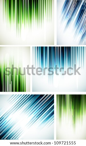 Set of abstract line backgrounds