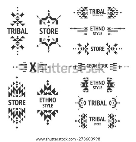 set of abstract logo with