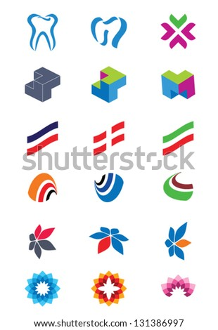 Set of abstract logos Icons for any type of business Vector