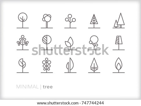set of 15 abstract minimal tree