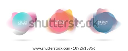 set of abstract modern graphic