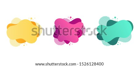 Set of abstract Modern graphic elements with dynamical colored forms. Template for the design of a logo.Vector Illustration