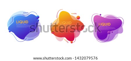 Set of abstract modern graphic elements with dynamical colorful forms and line. Modern Template for the design of a logo, flyer or presentation.