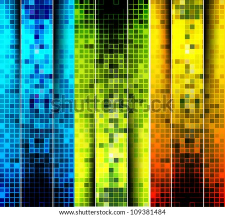 set of abstract mosaic background design. - stock vector