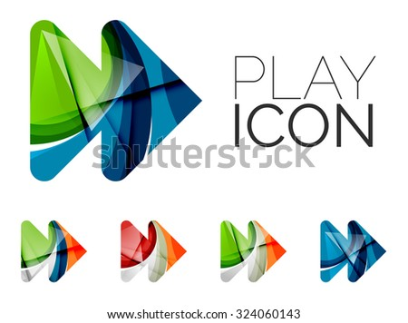 Royalty free set of abstract next play arrow icon for Modern cleaning concept