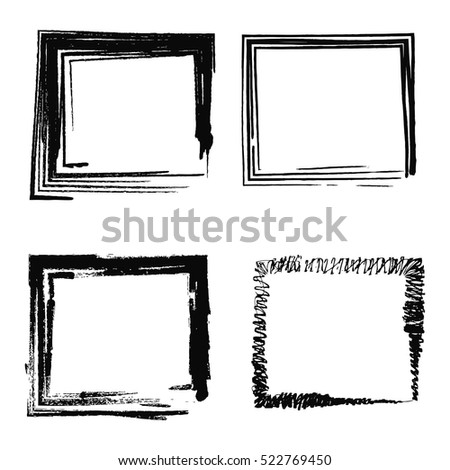 set of abstract photo frames