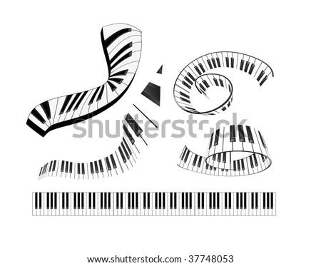 set of abstract piano keyboard